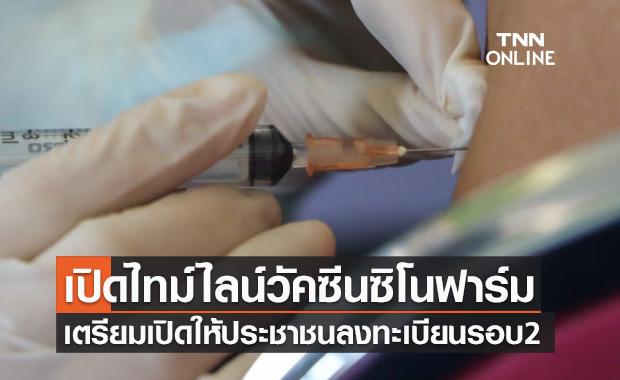 เปิดไทม์ไลน์ วัคซีนซิโนฟาร์ม เตรียมเปิดให้ประชาชนลงทะเบียนจองรอบ2
