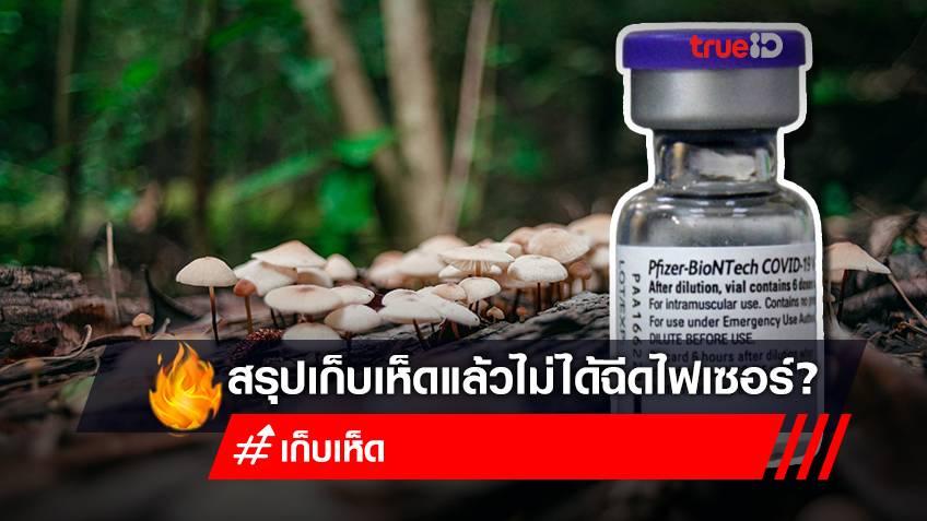 """สรุปคนไทย """"เก็บเห็ด"""" ได้ฉีดวัคซีน mRNA ชนิดไฟเซอร์ จริงไหม?"""