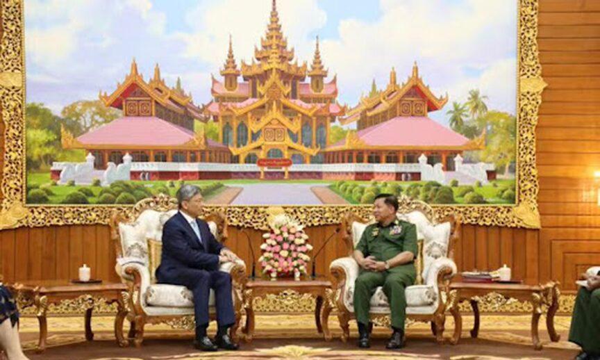"""จีนเรียกคณะรัฐประหารเมียนมา """"รัฐบาล"""" ให้เงินผ่านกองทุนล้านช้าง-แม่โขง"""