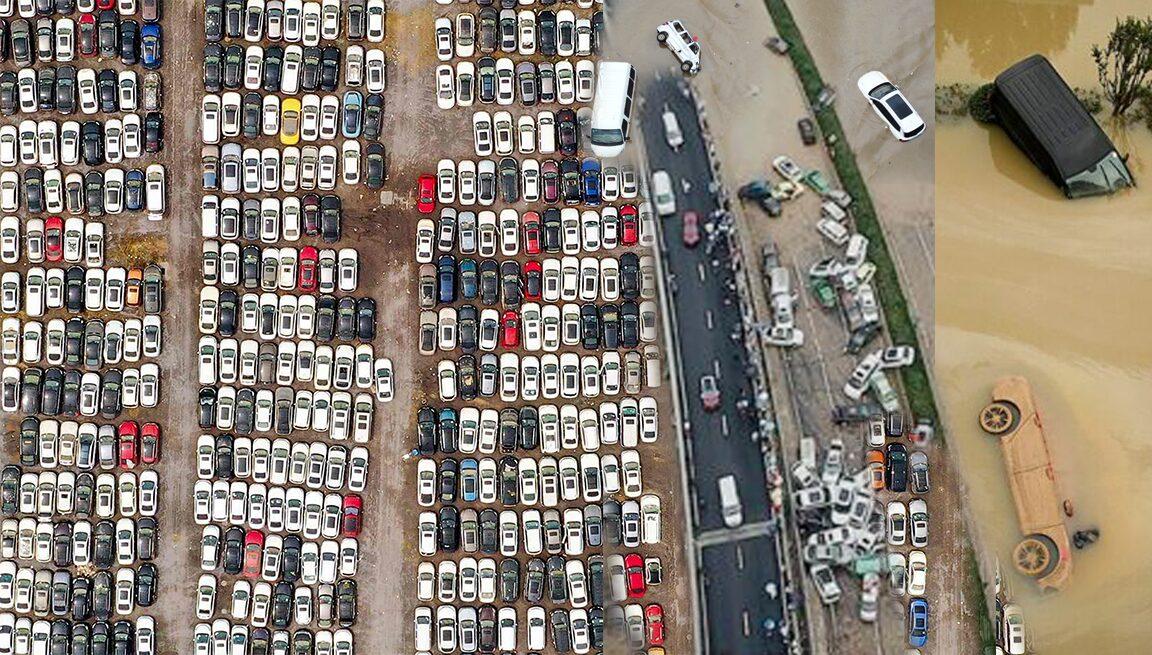 สุสานรถโดนน้ำท่วม 2แสนคันจอดแน่นเจิ้งโจว เตือนใจภัยพิบัติ300ศพ