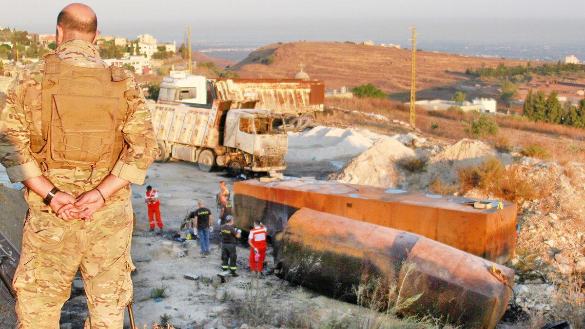 """รถบรรทุกน้ำมัน """"ระเบิด"""" เลบานอนสลดย่างสด 20 ชีวิต-บาดเจ็บเกือบ 80 คน"""