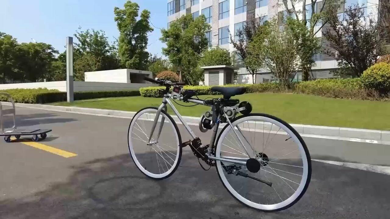 หนุ่มจีนสร้าง 'จักรยานอัจฉริยะ' วิ่ง-เลี้ยว-หลบอัตโนมัติ