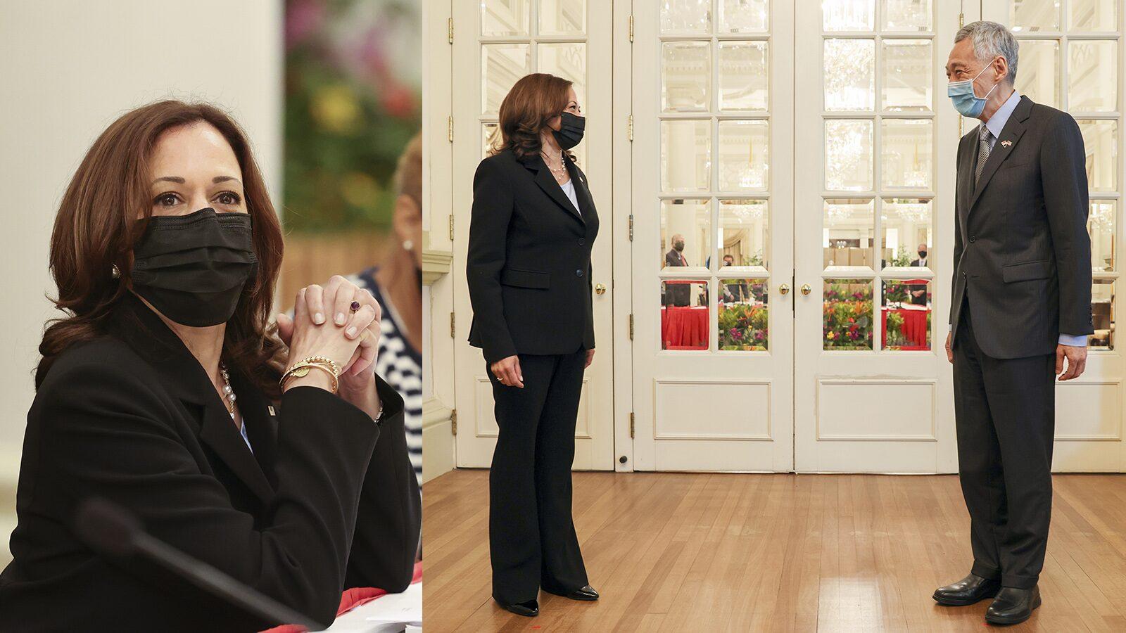 ประเดิมเยือนเอเชีย กมลา แฮร์ริส รองประธานาธิบดีสหรัฐ พบนายกรัฐมนตรีสิงคโปร์