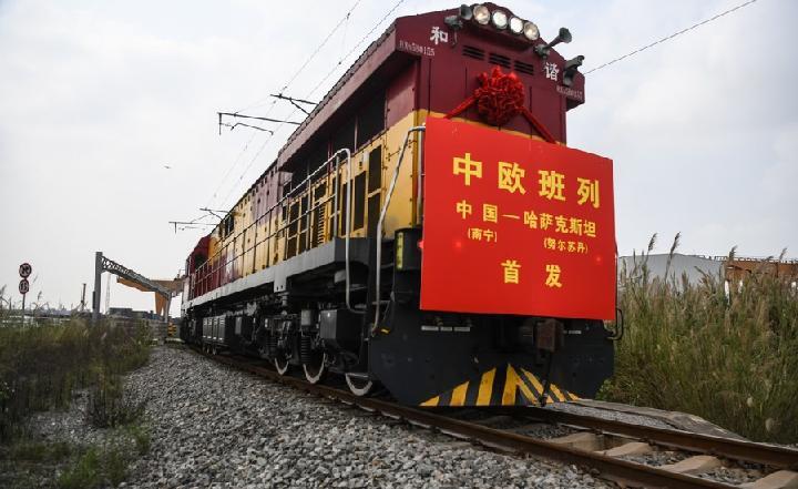 กว่างซีรองรับ 'รถไฟสินค้าจีน-ยุโรป' เพิ่มกว่า 80% ใน 7 เดือนแรก