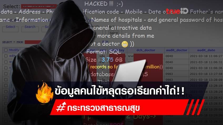 ว่อนเน็ต! ระบบ สธ.ไทยถูกแฮก? ข้อมูลคนไข้หลุด 16 ล้านรายการ รอเรียกค่าไถ่ ผ่าน Raidforums.com