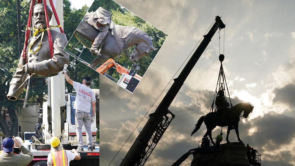 โค่นอีกรูปปั้นนายพล เชิดชูผิดๆมาร้อยปี มวลชนเวอร์จิเนียเฮลั่น