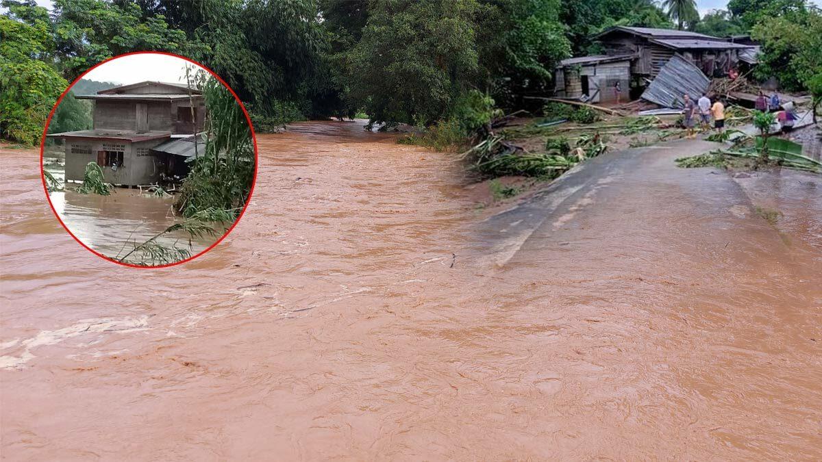 เพชรบูรณ์อ่วม น้ำป่าไหลหลากท่วมถนน หมู่บ้านถูกตัดขาด