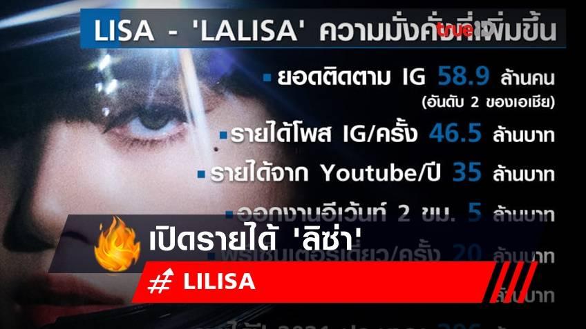 เปิดรายได้ลิซ่า LISA ความมั่งคั่งที่เพิ่มขึ้น หลังปล่อย  'LALISA'