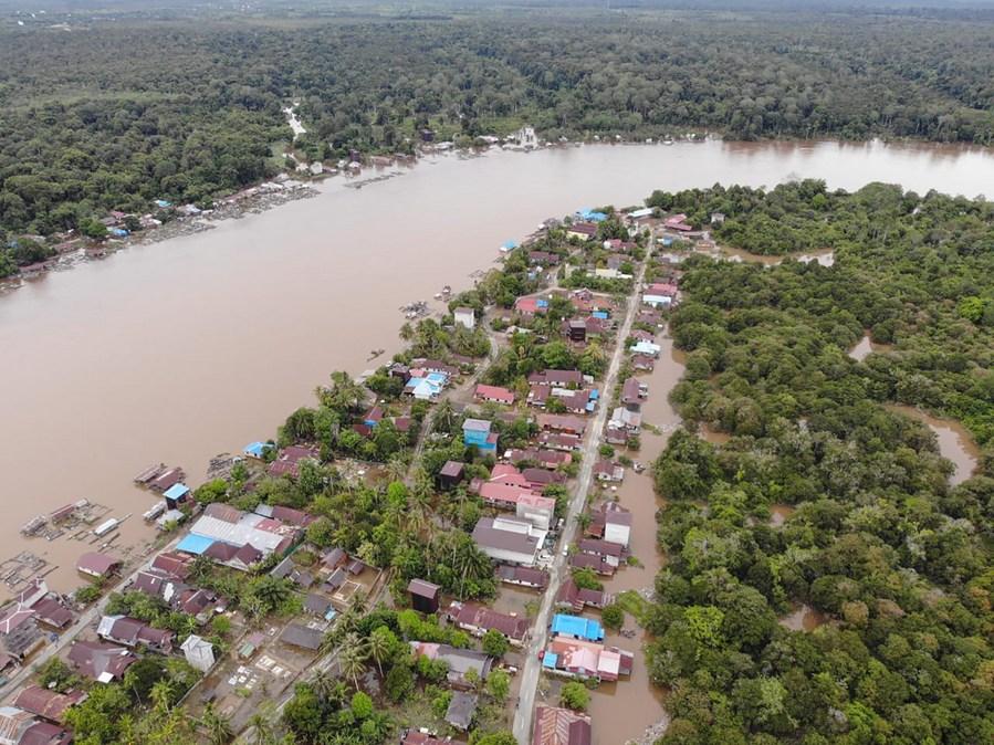 อินโดนีเซียเผยภาพน้ำท่วมในจังหวัด 'กาลิมันตันกลาง'