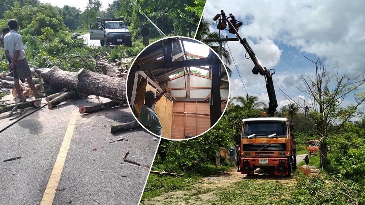 ฝนถล่ม ต้นไม้โค่น ไฟดับ บ้านเสียหาย คนเดือดร้อน เร่งช่วยเหลือด่วน