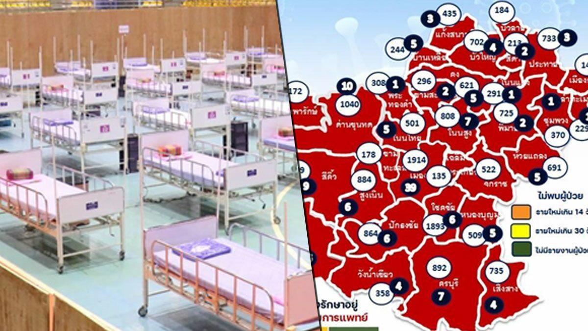 โคราช ผวา 10 คลัสเตอร์ลามชุมชน-ตลาด พบป่วยเพิ่ม ติดเชื้อดับ4ศพ