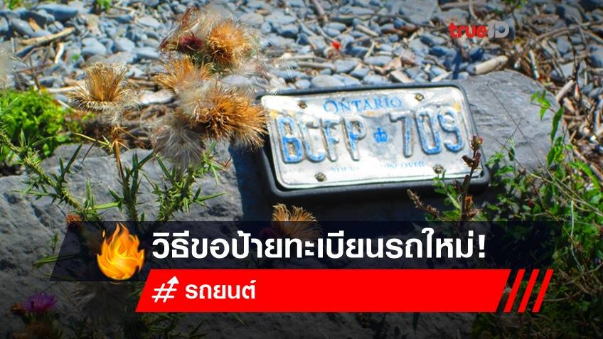 ป้ายทะเบียนรถหลุดหาย ตอนน้ำท่วม ต้องทํายังไง?