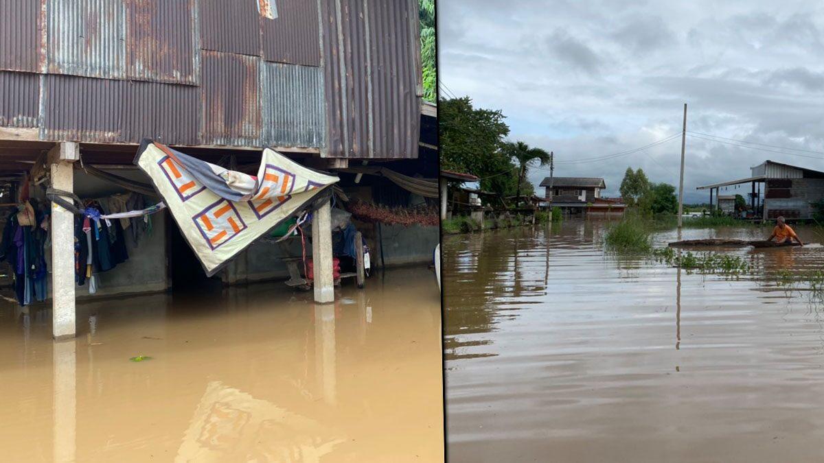ชัยภูมิฝนตกหนัก แม่น้ำชีทะลักล้นตลิ่ง ท่วมวัด-หมู่บ้าน ถูกตัดขาด ชาวบ้านอพยพวุ่น
