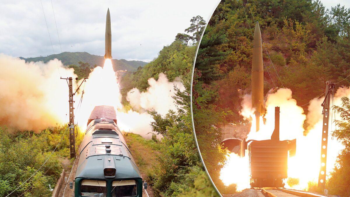 """เกาหลีเหนือเผยภาพ """"มิสไซล์"""" ระบบใหม่-ยิงจากขบวนรถไฟ"""