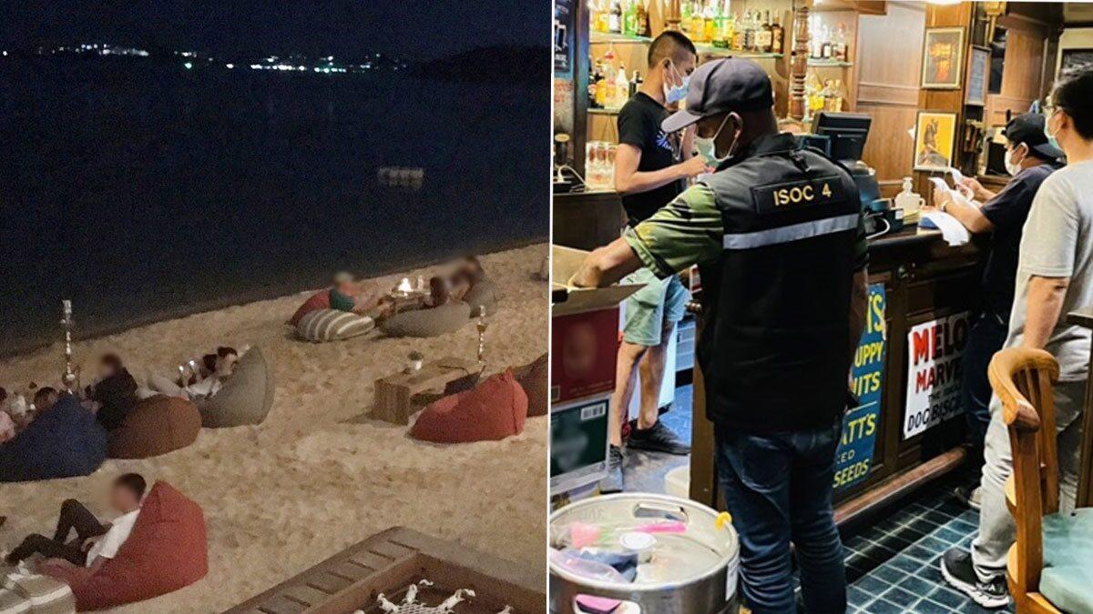 เกาะสมุยลุยจับ ร้านแอบขายเครื่องดื่มแอลกอฮอล์ เจอใส่แก้วกระดาษตบตา