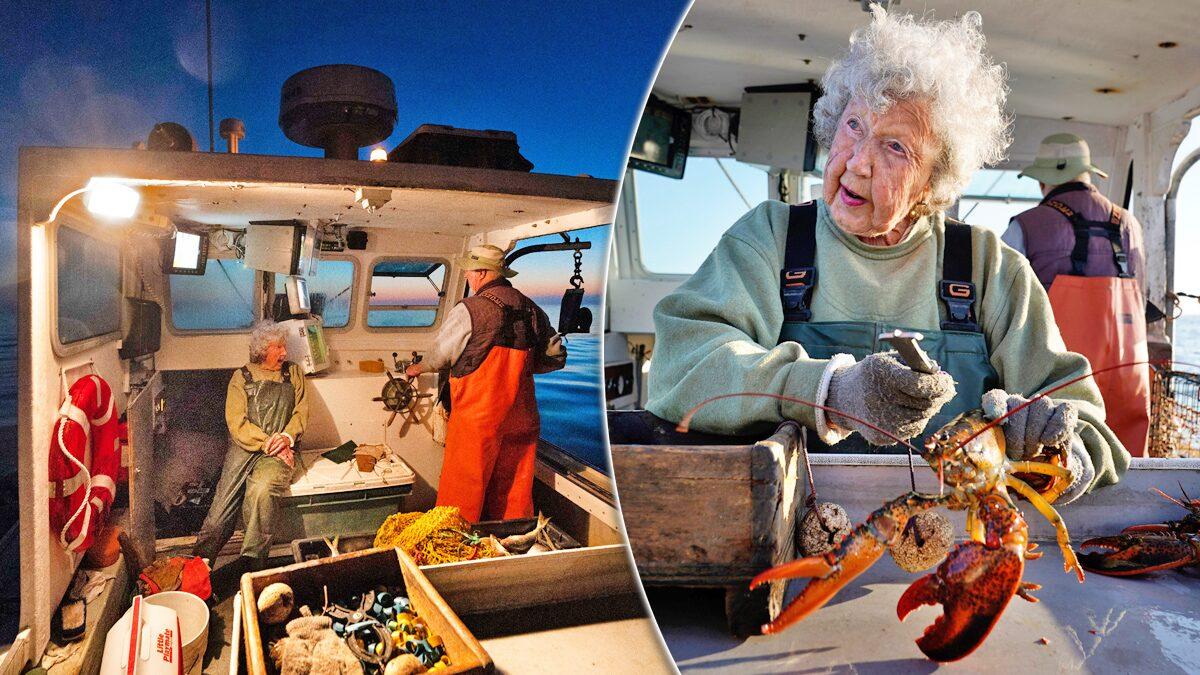 """ยายวัย 101 ยังออกเรือตก """"ล็อบสเตอร์"""" ทำมานาน 9 ทศรรษและจะทำไปตลอดชีวิต (คลิป)"""