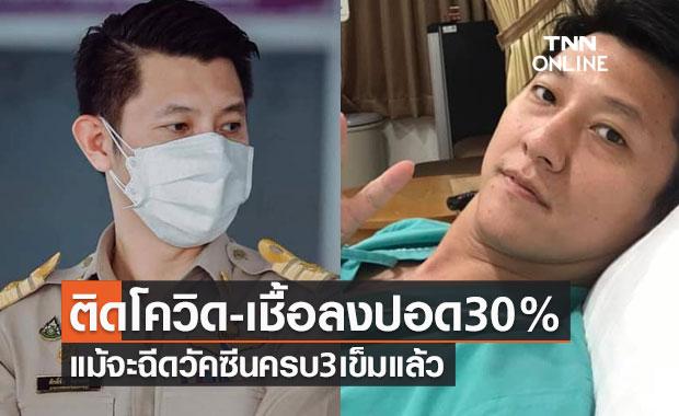นายกเทศมนตรีเทศบาลเมืองราชบุรีติดโควิด-เชื้อลงปอด30%แม้ฉีดวัคซีนครบ3เข็ม