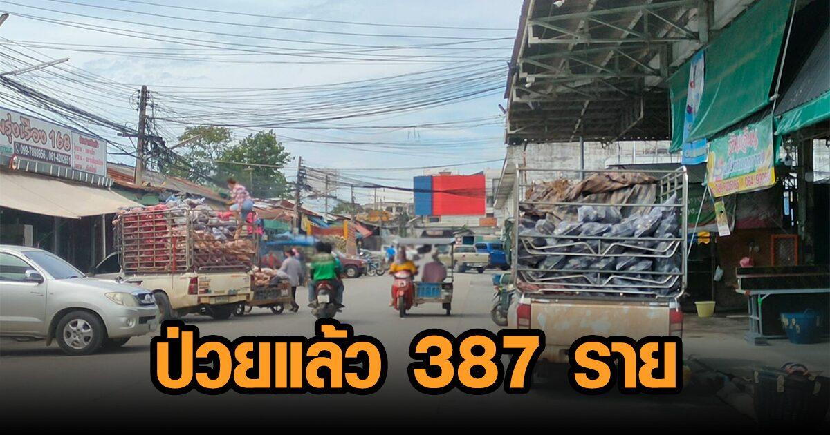 คลัสเตอร์ตลาดสุรนารีลาม 4 ตลาดเขตเมือง กระจาย 14 อำเภอ ป่วย 387 ราย จ่อเชือดละเลยคำสั่งศบค.