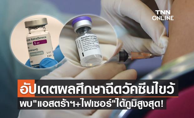 """ศิริราช อัปเดตผลศึกษาฉีดวัคซีนไขว้ """"แอสตร้าฯ+ไฟเซอร์"""" ได้ภูมิคุ้มกันสูงสุด!"""