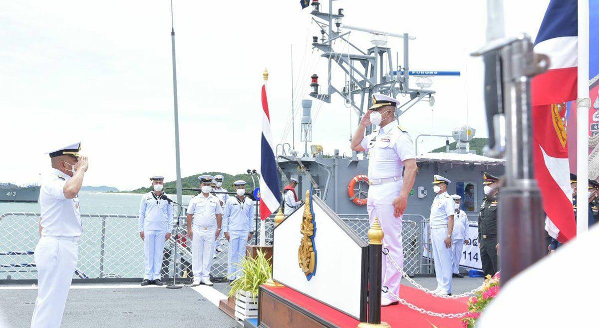 กองทัพเรือจัดยิ่งใหญ่สมเกียรติ ปลัดกลาโหม เยี่ยมอำลาเกษียณราชการ