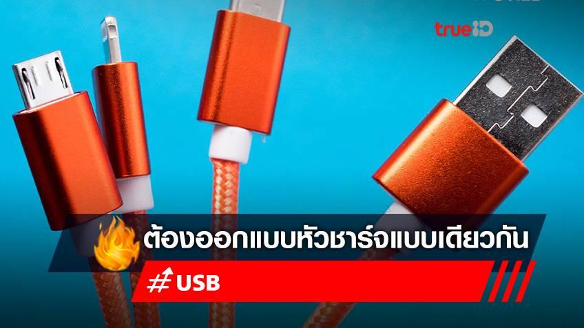 หัวชาร์จ USB-C จะครองโลก! ยุโรปจ่อสั่งผลิตสมาร์ทโฟน-แท็บเล็ต ต้องใช้หัวชาร์จเดียวกัน เพื่อลดขยะ