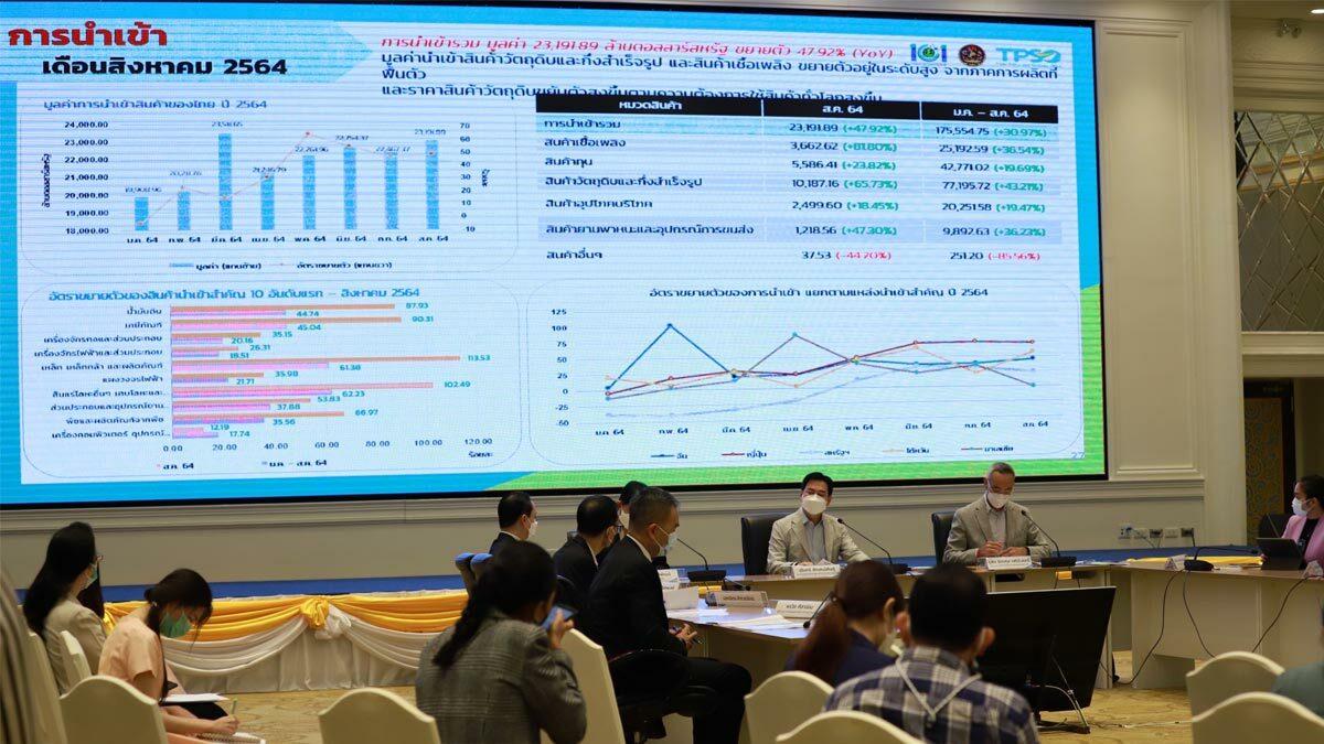 พาณิชย์ฟุ้ง ส.ค.ส่งออกพุ่ง คาดทั้งปีส่งออกเกินเป้า 4% แน่นอน