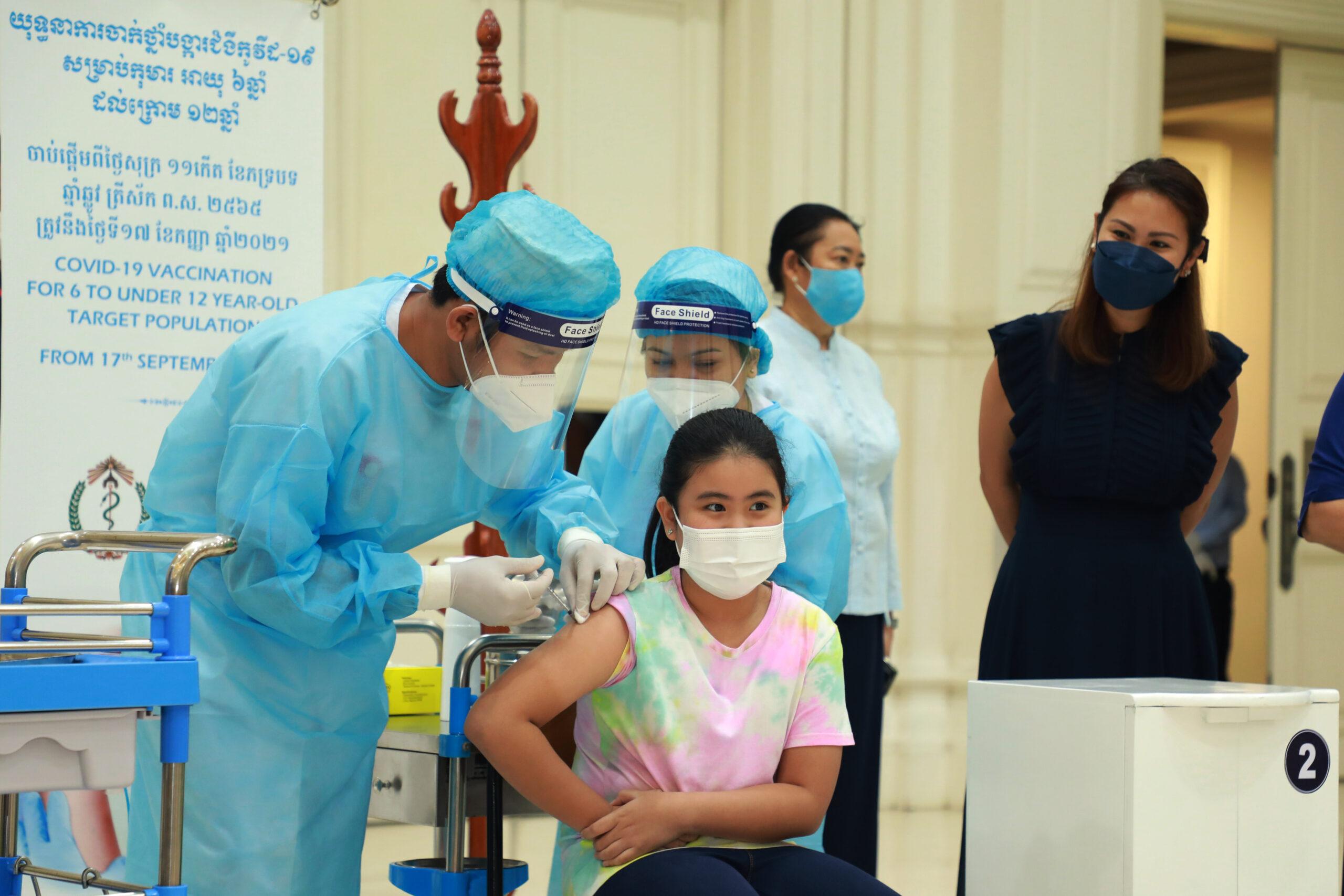 ชาว 'กัมพูชา' ฉีดวัคซีนโควิด-19 โดสแรก สูงแตะ 82% แล้ว