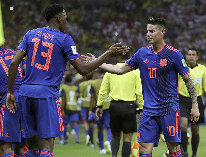 Yerry Mina, James Rodriguez