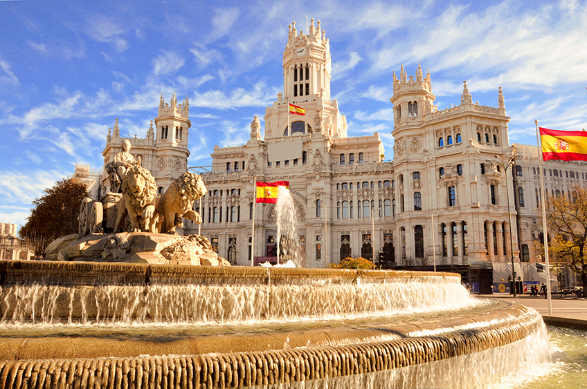 The famous Cibeles fountain in Madrid
