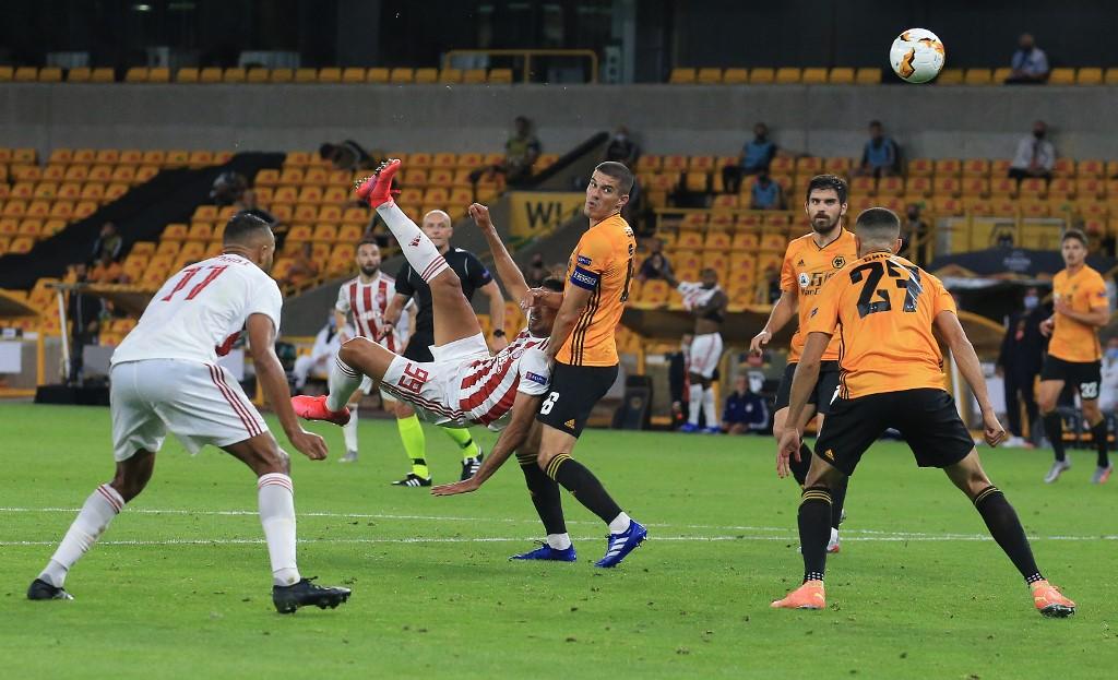 วูล์ฟแฮมป์ตัน เชือด โอลิมเปียกอส 1-0 คว้า 8 ทีม ยูโรปา ลีก