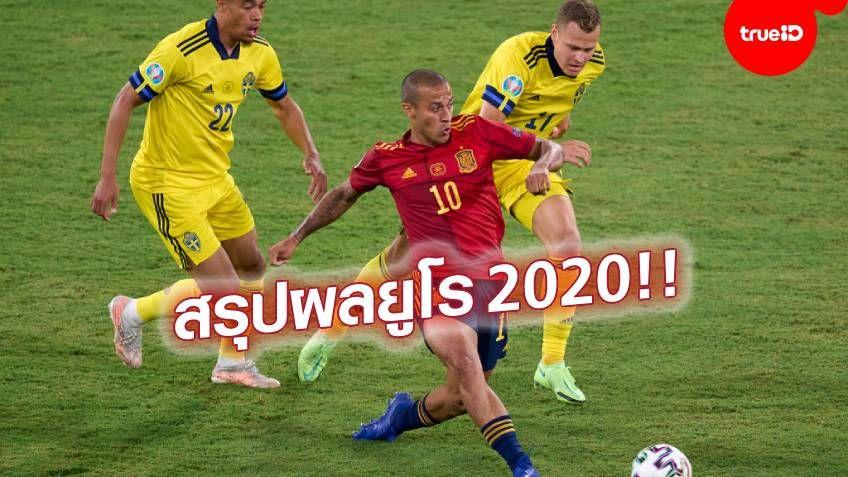 สรุปผลบอลยูโร 2020 รายชื่อคนยิง แมนออฟเดอะแมตช์ ทุกนัดตลอดทัวร์นาเมนต์