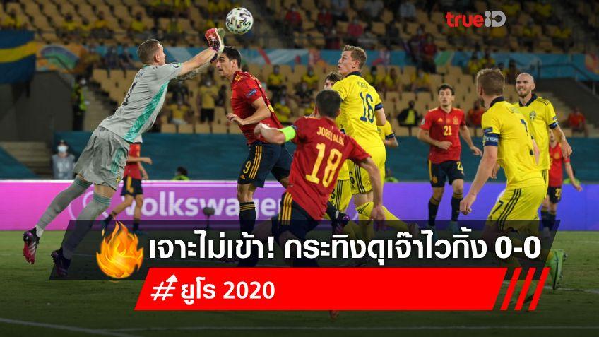 'โอลเซ่น'เหนียวหนึบ! สเปน บุกทั้งเกม ยิงไม่ได้ เจ๊า สวีเดน 0-0 ศึกยูโร 2020