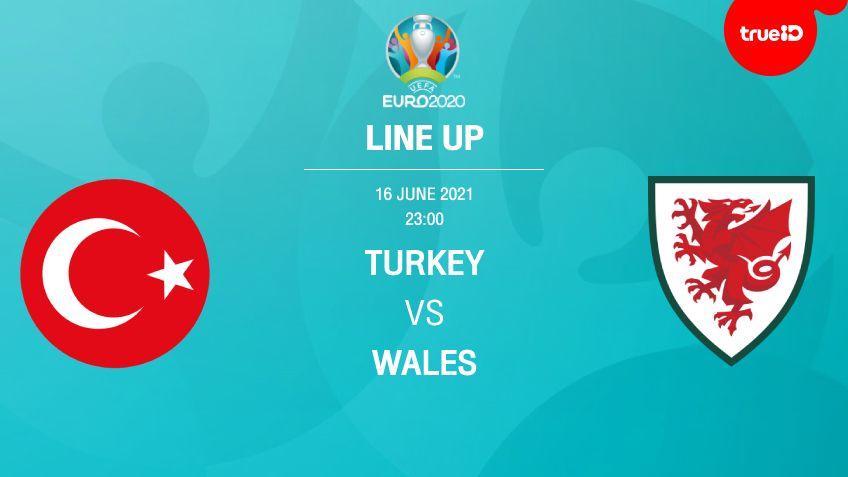 ตุรกี VS เวลส์ : รายชื่อ 11 ตัวจริง ฟุตบอลยูโร 2020 พร้อมลิ้งก์ดูบอลสด