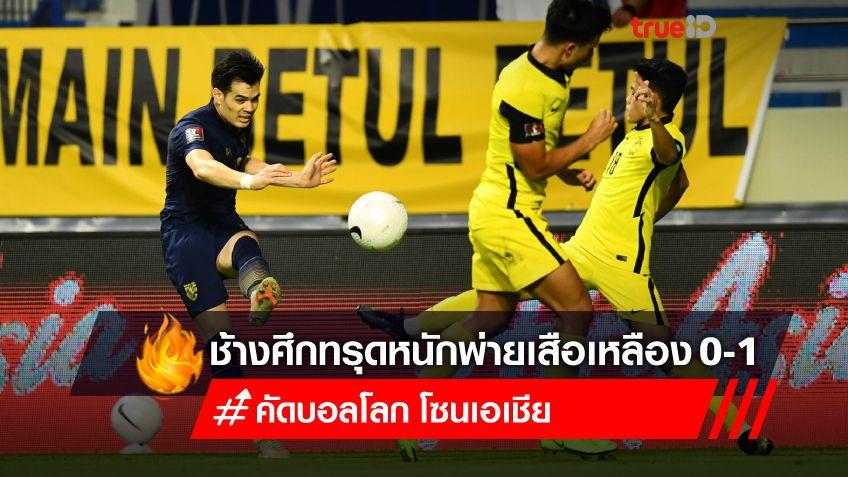 ช้างศึกโคม่า! ทีมชาติไทย เสียจุดโทษ พ่าย มาเลเซีย 0-1 จบรองบ๊วย ศึกคัดบอลโลก