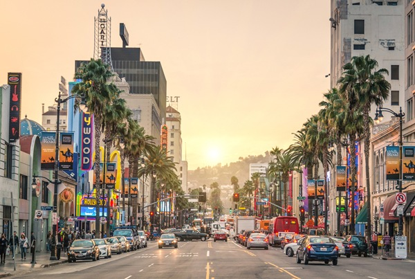 Sunset the Hollywood Walk of Fame_View Apart_Shutterstock.com