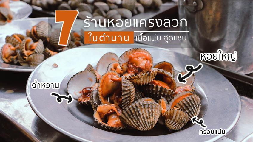 ปักหมุด 7 ร้านหอยแครงลวก ในตำนาน หอยใหญ่ เนื้อแน่น สุดแซ่บ