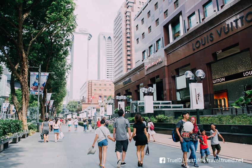 ถนน Orchard ช้อปปิ้งสิงคโปร์ รถไฟฟ้าใต้ดิน