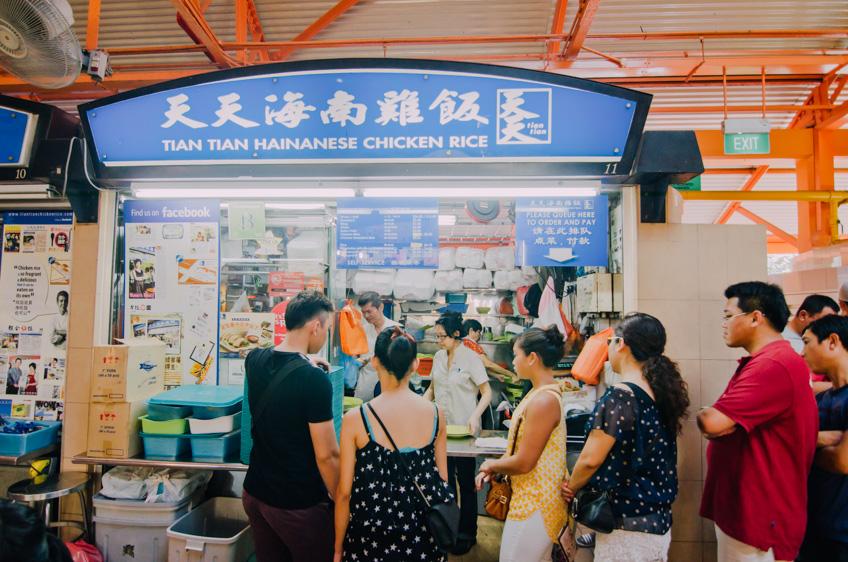 Tian Tian Hainanese ข้าวมันไก่สิงคโปร์ รถไฟฟ้าใต้ดิน