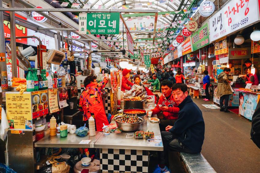 Noryangjin ตลาดปลา