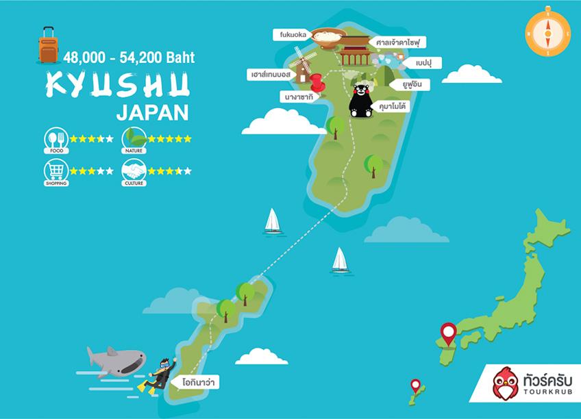คิวชู เที่ยวญี่ปุ่นเมืองไหน เท่าไหร่บ้าง ไปเที่ยวช่วงไหนถึงจะดี