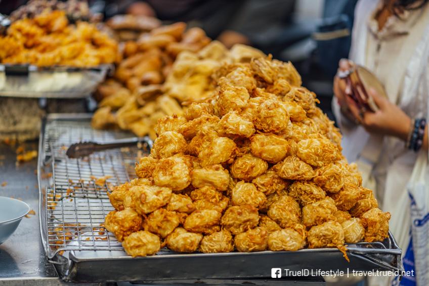 เผือกทอด กินเจ 2018 อาหารเจ