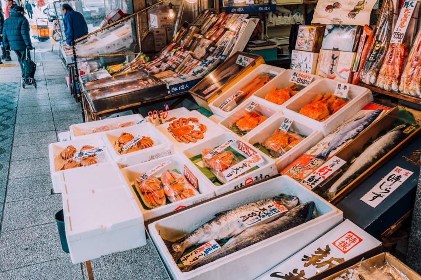 Nijo Fish Market ที่เที่ยวซัปโปโร ญี่ปุ่น