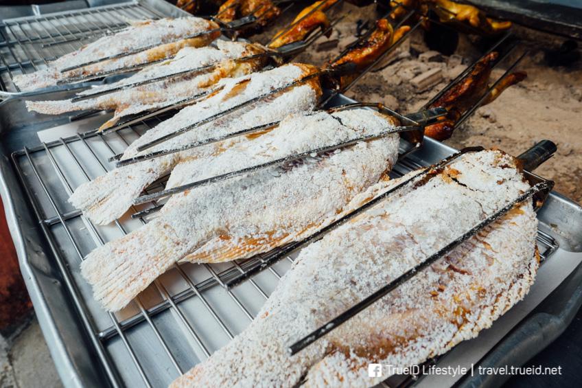 หอมปลาเผา รัชดา ร้านส้มตำ