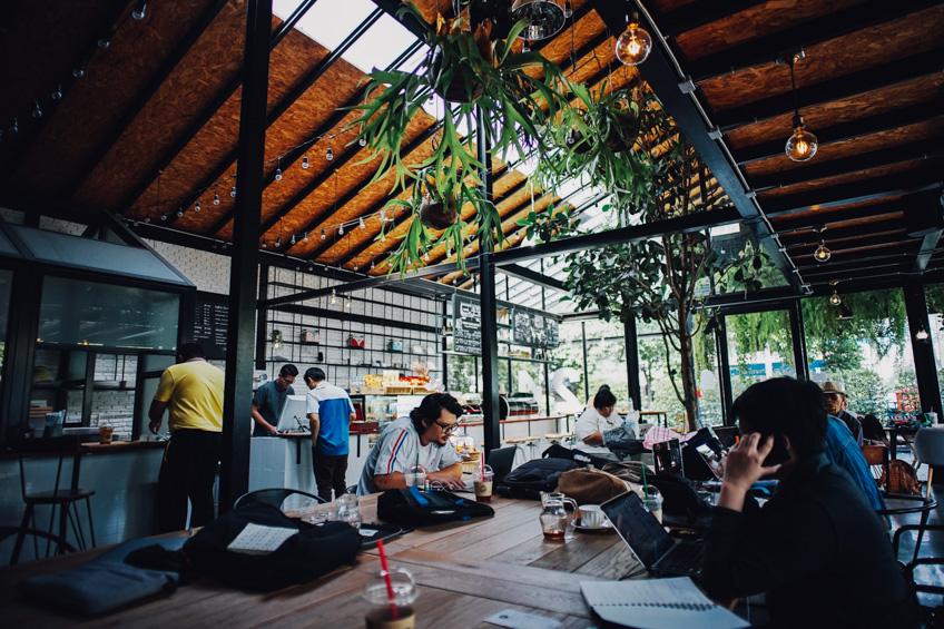 คาเฟ่ในสวน เที่ยวปีใหม่กรุงเทพ