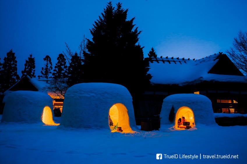 อากิตะ Kamakura Snow Festival