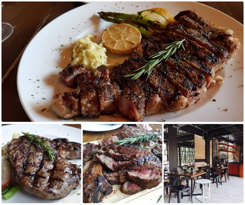 ร้านสเต็ก ร้านบรรยากาศดี  Medium Rare Steak & Wine