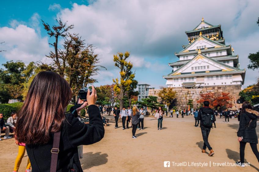 Osaka Castle ที่เที่ยวโอซาก้า สถานีรถไฟในญี่ปุ่น