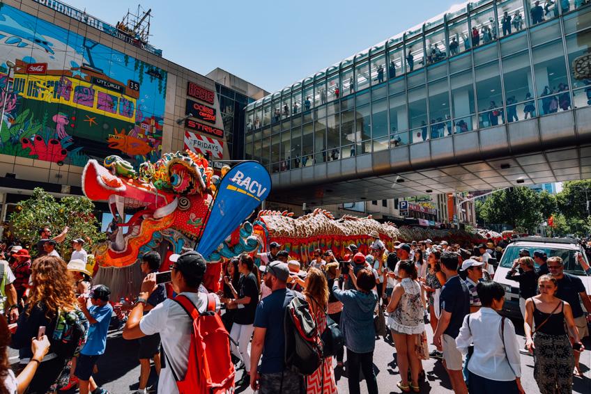 เมลเบิร์น China Town ตรุษจีน