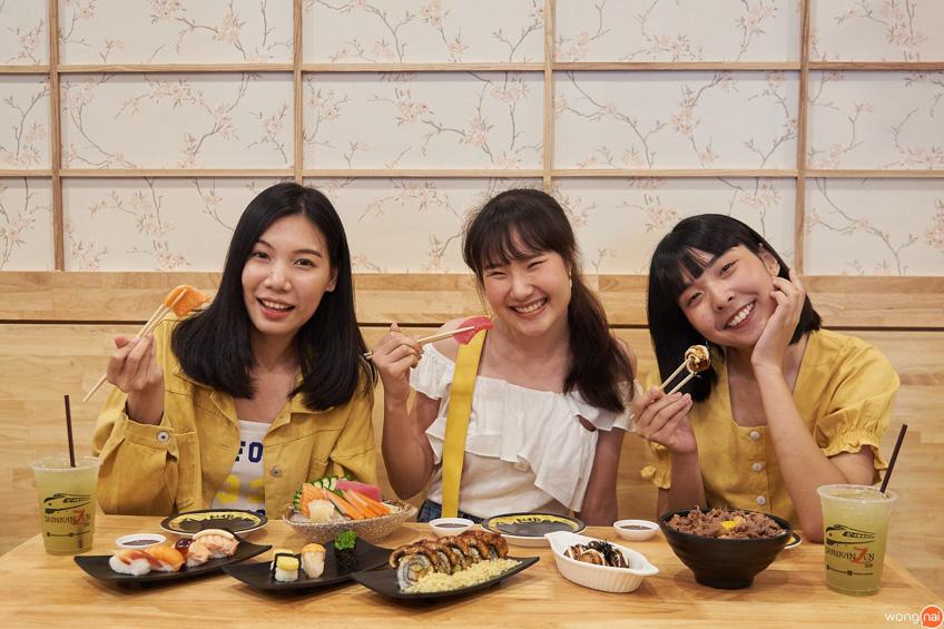 ร้านอาหาร ม.เกษตร Shinkanzen Sushi