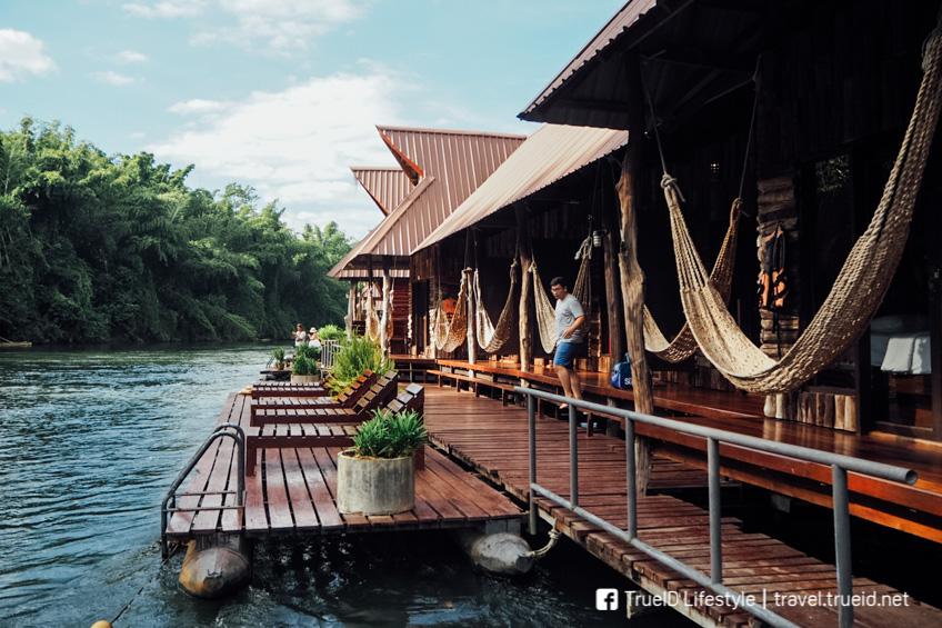 เที่ยวใกล้กรุงเทพ นอนแพริมน้ำ กาญจนบุรี